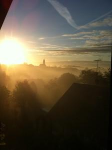 Mist over Paunzhausen, power of slow. slow living, magic of nature